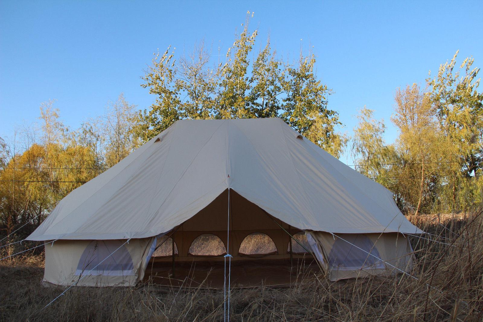 TOPSHOP 6M Emperor Twin Bell Tent Safari Tent Waterproof Hunting Camp Wall Tent