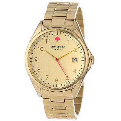 Kate Spade 1YRU0030 Lady Yellow Gold SS Bracelet Gold Dial Watch