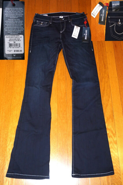 12f2a615e Women True Religion Jeans Size 26 Becca Mid Rise Bootcut for sale ...