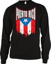 Little Girls Puerto Rico Flag Pride ComfortSoft Long Sleeve Tee