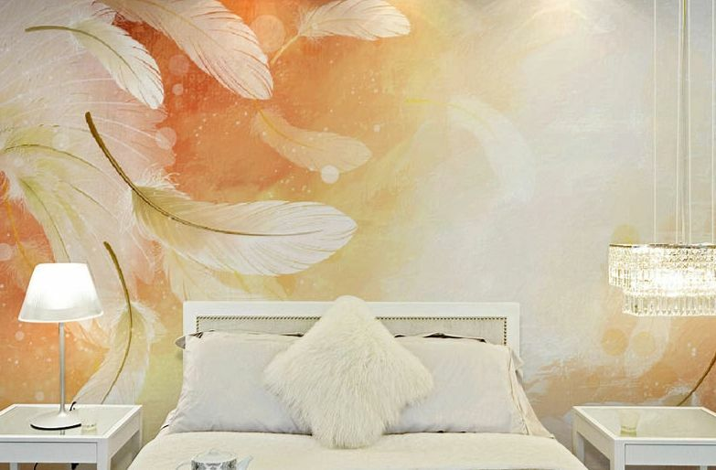 3D Warm feather 134 WallPaper Murals Wall Print Decal Wall Deco AJ WALLPAPER