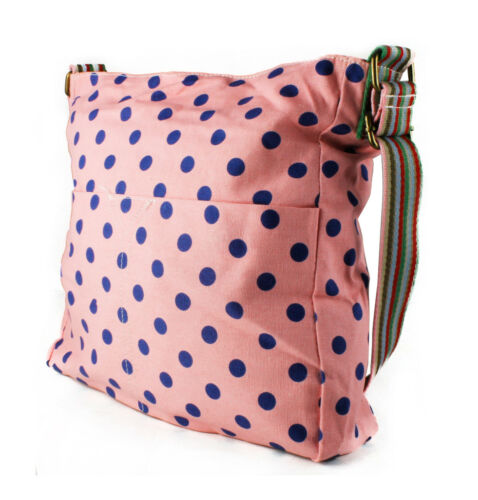 Clearance Sale Polka Dot Canvas Shoulder Handbag Girls Crossbody Messenger Bag