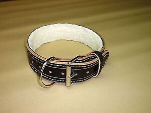 2-IN-PADDED-LEATHER-COLLAR-POLICE-K-9-SCHUTZHUND-IPO-CUSTOM-MADE-SIZE-COLOR-ETC