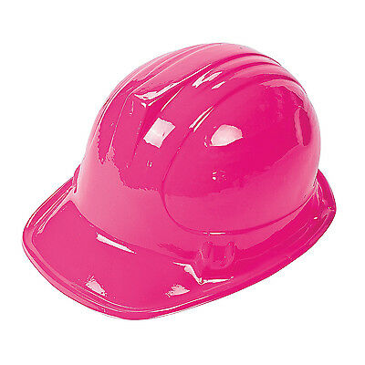 12 Pink CONSTRUCTION WORKER HATS Girls Hard Hat Dozen / Birthday Party FAVORS