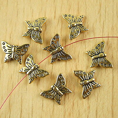 20pcs dark gold-tone butterfly spacer beads h2222