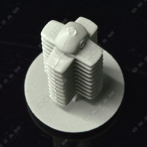 Universal Auto garniture intérieure clips en plastique fastener Gris X10