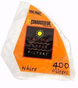100% Vrai Rockline Connaisseur Coffee Filter #4 Cone White 400 Filters