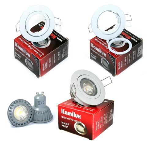 5 W Power DEL Ampoules 5 W = 50 W 12 V//230 V salle de bains plafond projecteur spot incl
