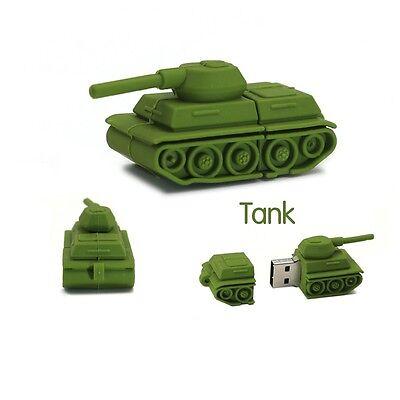 Cartoon Tank model USB 2.0 Memory Stick Flash pen Drive 4GB 8GB 16GB 32GB P105