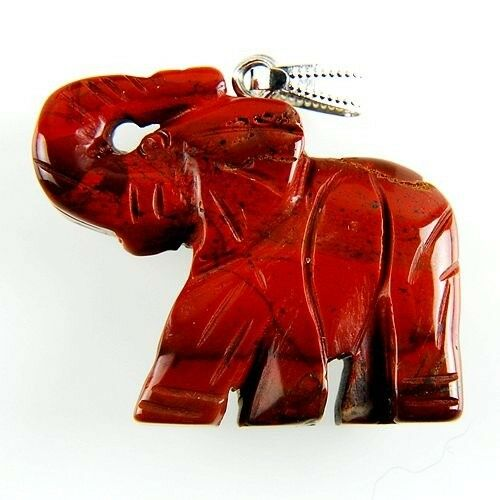 Wholesale Mixed Carved Elephant Pendant Bead for DIY Jewelry 39x34x8mm
