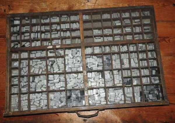 100% Wahr Banville 24p Bleischrift Im Setzkasten Bleisatz Lead Type Typographie Handsatz