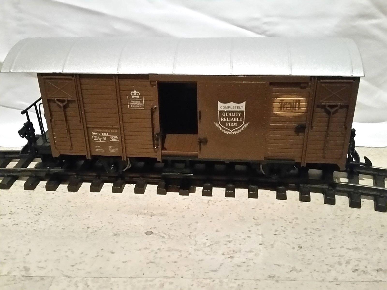 original gedeckter Güterwagen Günstigvariante! Spur G Train Mit Optionen!