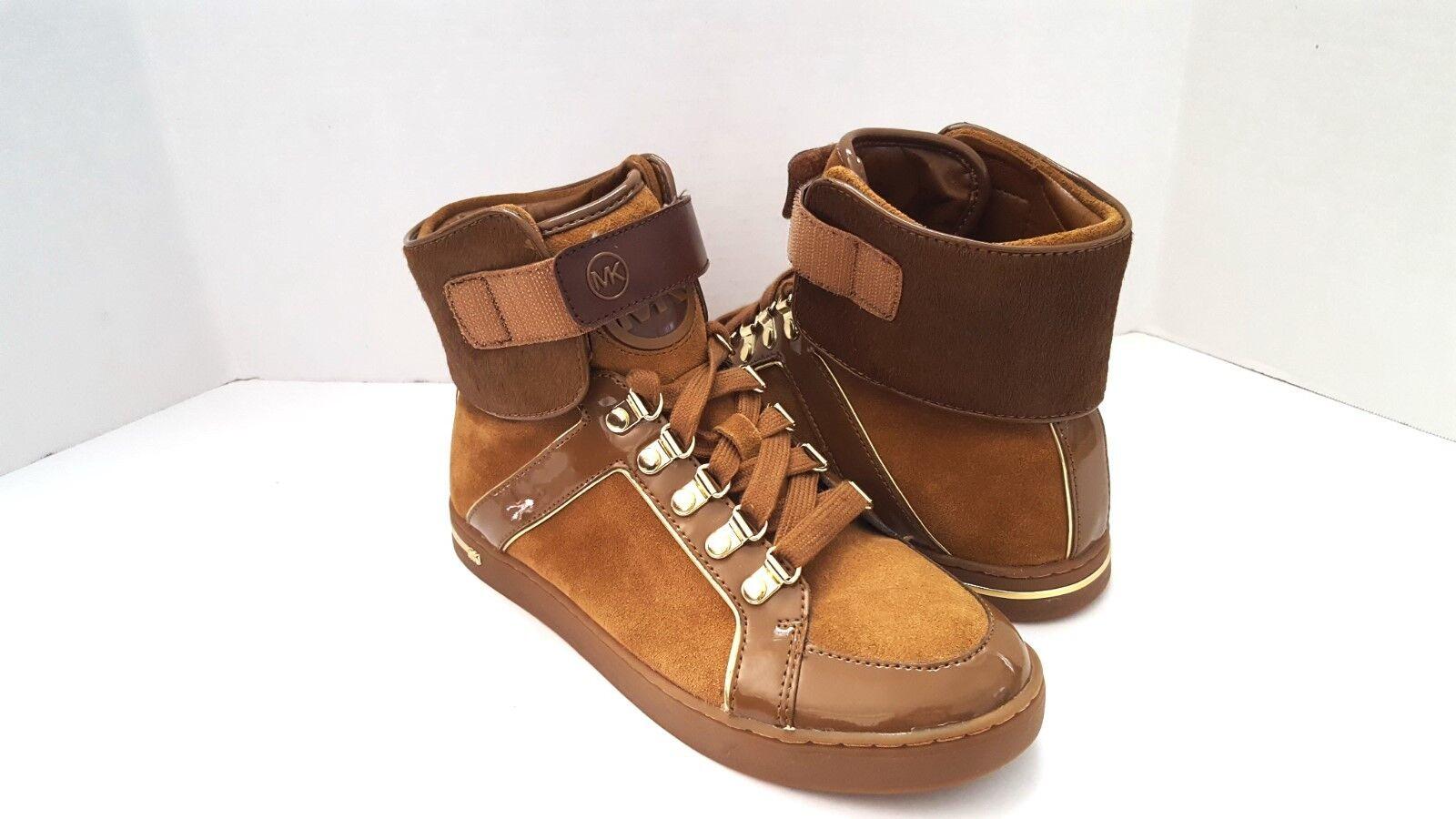 New Michael Kors Greenwich High Top Fashion Sneakers  Brown Sz 7