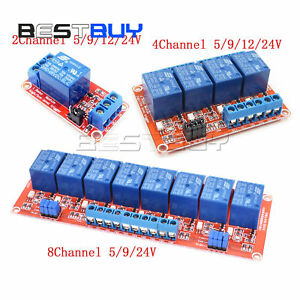2/4/8 Channel Relay Module Board With Optocoupler High/Low