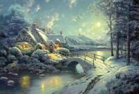 Schmidt Jigsaw Puzzle Christmas Moonlight Thomas Kinkade 500 Pcs 58453