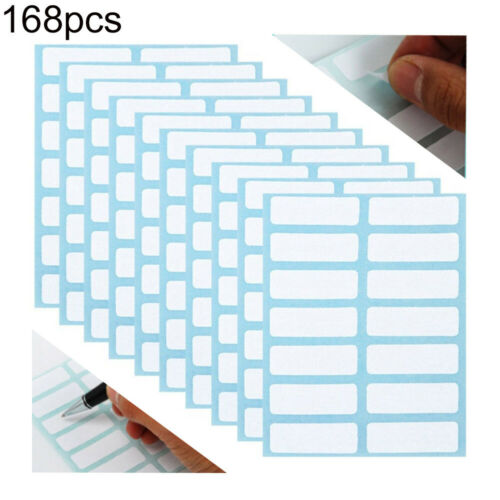 12 Sheets White Price Sticker Self Adhesive Labels Blank Name Number Tags Bland