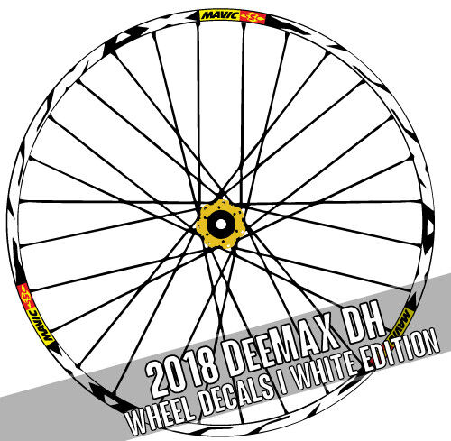 DEEMAX DH DOWNHILL mavic style wheel decals Stickers mtb bike bicycle Adesivi