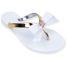 0f1c45e8f item 5 Womens Ladies Toe Bow Diamante Jelly Flat Summer Flip Flop Thong  Sandals Size -Womens Ladies Toe Bow Diamante Jelly Flat Summer Flip Flop  Thong ...