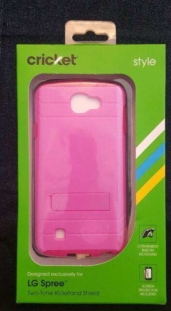 sports shoes ec208 79a8d Cricket Wireless LG Spree Cell Phone Case Kickstand & Screen Protector -  Pink