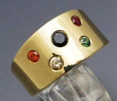 Sonnig Reif-design - Eleganter Zirkonia Ring - Aus Eigener Goldschmiede - 999 Silber