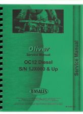 Oliver Oc 12 Cletrac Crawler Service Repair Manual Chassis Only