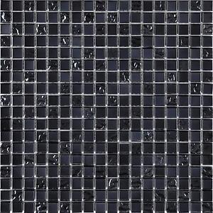 Détails sur Noir Mélange irisé Mosaïque Verre Mur Carrelage brillant salle  de bain douche GTR10098- afficher le titre d\'origine