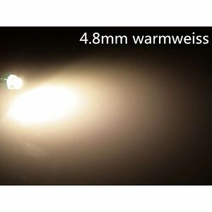 10-Stk-a0302-warmweiss-4-8mm-LEDs-Superhelle-5LM-4-8mm-StrawHat-LEDs