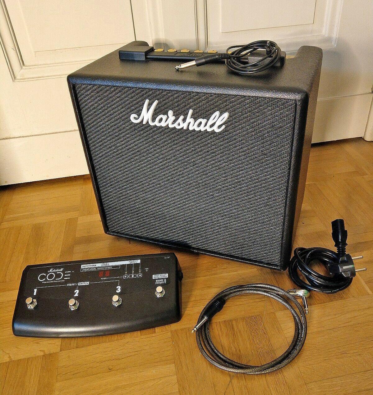 Marshall Code 25 + Marshall Footswitch   mit Adapterkabel   Wie neu
