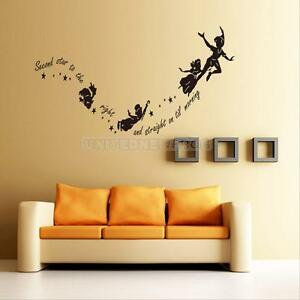 Image Is Loading HOT Tinkerbell Star Peter Pan Wall Decal Kids