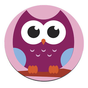 Owl Face Circle Pc Computer Mousemat Mouse Mat Pad Gift Animal Pink