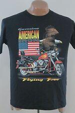 Vtg American Iron Magazine T Shirt - 90s Biker Motorcycle Black - Men's Medium M