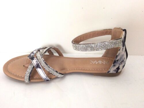 New arrival flats gladiator beads ankle strap zip in the back women sandals