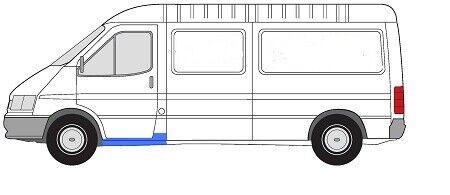 Einstiegschweller//einstigblech derecha Ford Transit BJ 86-91