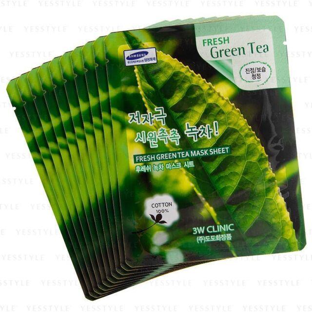 AU STOCK FREE SHIPPING 3W CLINIC Fresh Mask Sheet - 10pcs  No.Green Tea