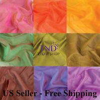 Two Tone Sheer Organza Fabric Overlay Table Runner Swag Sash Backdrop Draping