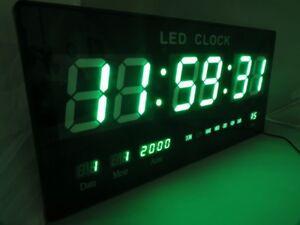 Parete Verde Ufficio : Orologio da parete led verde digitale datario data temperatura