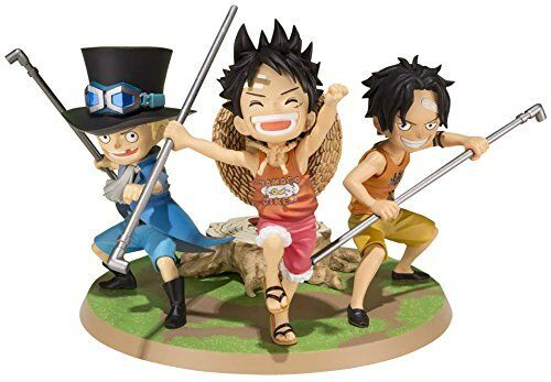 Neuf Figurines Art Zéro Onepiece Luffy &ace &sabo Promise Of Brougehers PVC