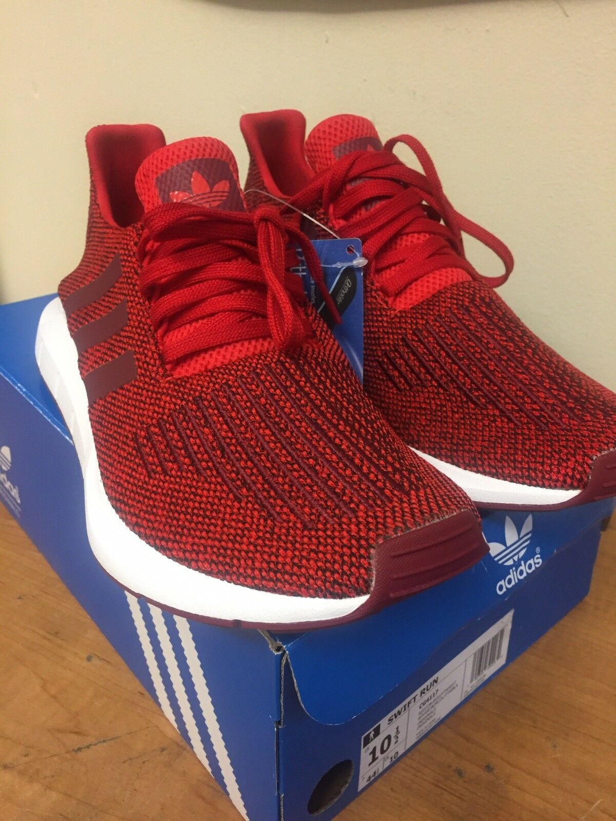 adidas swift terme   terme  chaussures Rouge  / collegiate burgundy / nuage blanc sz 10,5 cg4117 906807