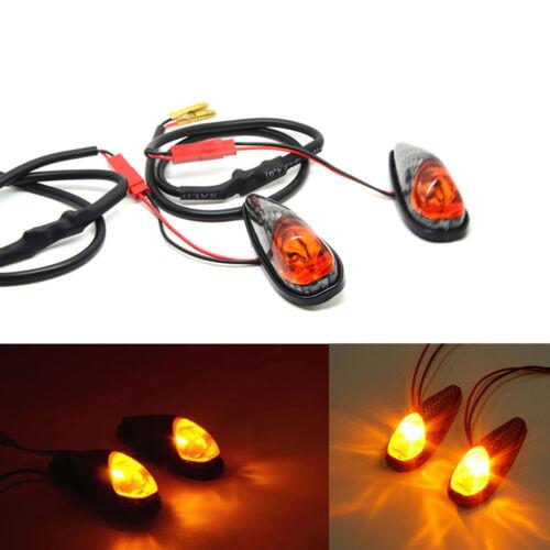 2pcs Motorcycle Turn Signals LED Lights Bulbs Indicators Blinker KIT Universal