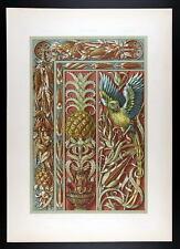 1886 SEDER - ART NOUVEAU -  Pine Apple, Indian Corn, Pepper – Ananas, Mais, Papr