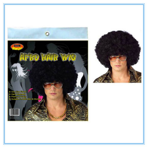 PARTY CUSTOM AP AFRO NOVELTY HAIR WIG BLACK COLOUR COLOUR ADULT SIZE