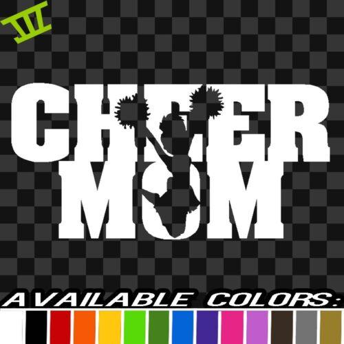 Cheer Mom Sticker Vinyl Decal car truck bumper window funny cheerleader dance