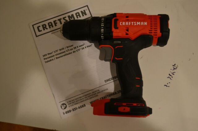 "New Craftsman CMCD700 V20 Cordless 1/2"" Drill Driver 20 Volt use CMCB201 CMCB202"