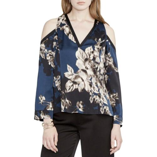 Rachel Rachel Roy Womens Floral Print Cold Shoulder Kimono Blouse Top BHFO 6861