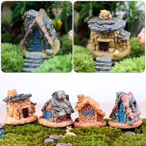 Cottage-Figurines-Fairy-Garden-micro-landscape-Ornament-Resin-Mini-Stone-House