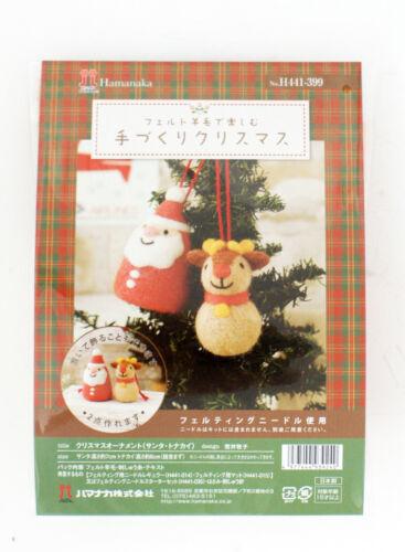 Hamanaka H441-399 Felt Wool Mascot Christmas Santa Claus /& Reindeer Kit