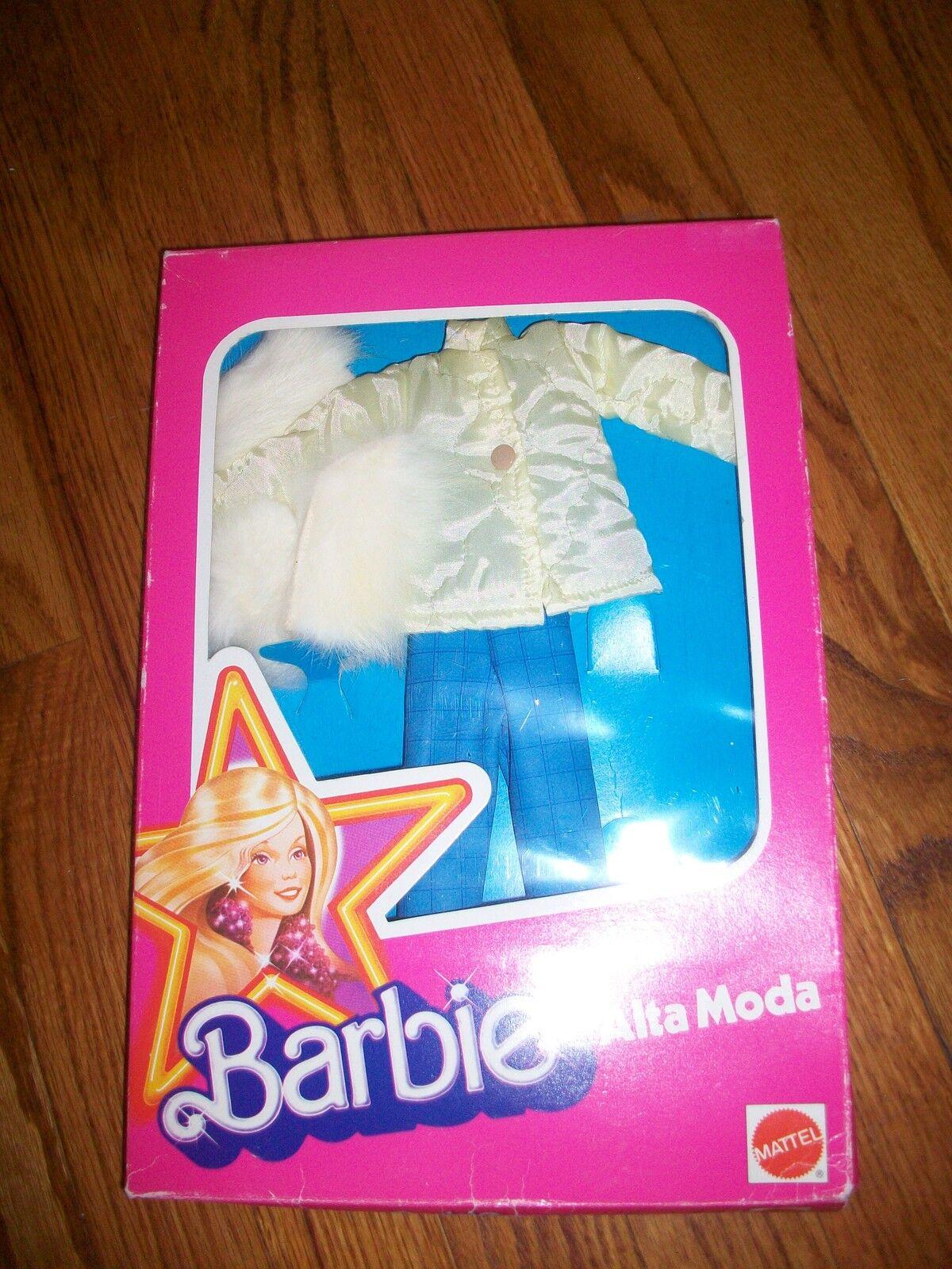 Vintage Mattel Barbie Alta Moda Fashion Jacke & Blau Hose Set Ad101