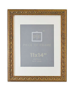 11x14 Ornate Finish Frame Bronze Color With Ivory Mat For