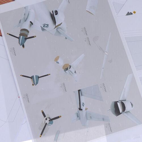 1:32 America MQ-9 Reaper Reconnaissance Aircraft Plane DIY Paper ModelODUS