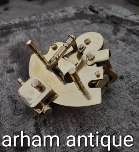 Vintage Solid Brass Sextant Navigation Astrolabe Ship Instrument Sextant